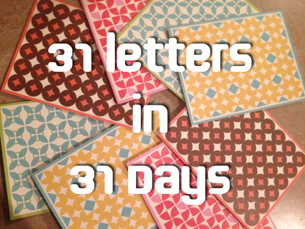 31Letters31Days